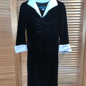 Vintage Stretch Velvet 2pc Suit